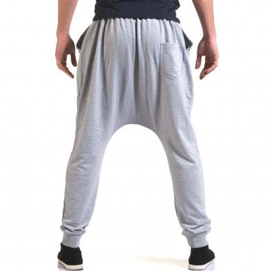 Pantaloni baggy bărbați Dress&GO gri it090216-34 3