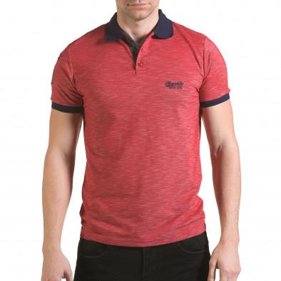 Tricou cu guler bărbați Franklin roșu il170216-37 2