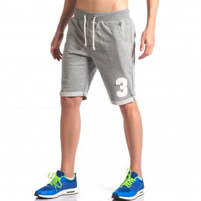 Pantaloni scurți bărbați New Men gri it260416-23 4