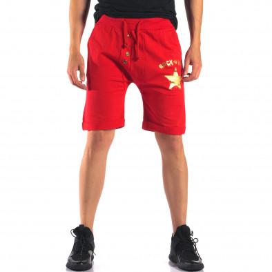 Pantaloni scurți bărbați Black Fox roșii it160616-14 2