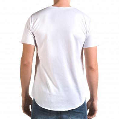 Tricou bărbați Man alb it090216-72 3