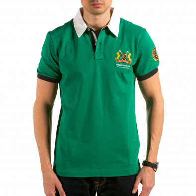 Tricou cu guler bărbați Ar-Ma verde il180215-120 2