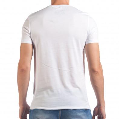 Tricou bărbați Just Relax alb il060616-8 3