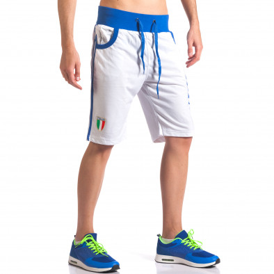 Pantaloni scurți bărbați Dress&GO albi it260416-17 4