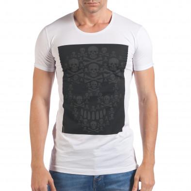 Tricou bărbați Eksi alb il060616-78 2
