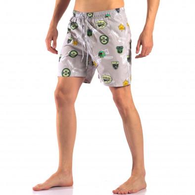 Costume de baie bărbați Austar Jeans gri it150616-23 4