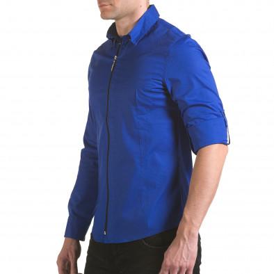 Cămașă cu mânecă lungă bărbați Jeanscollic albastră il170216-94 4
