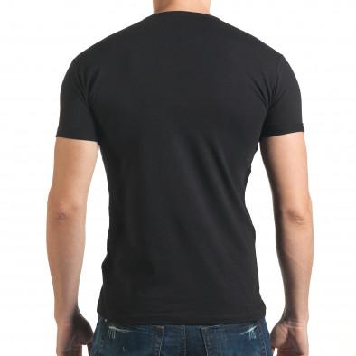 Tricou bărbați Lagos negru il140416-68 3