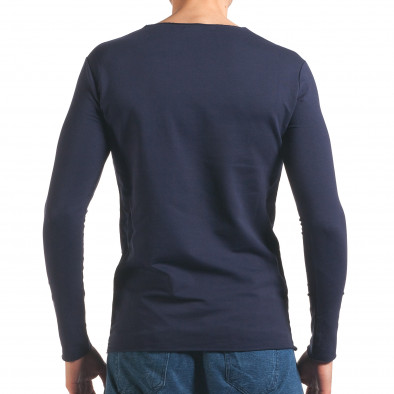 Bluză bărbați Wilfed albastră it250416-81 3