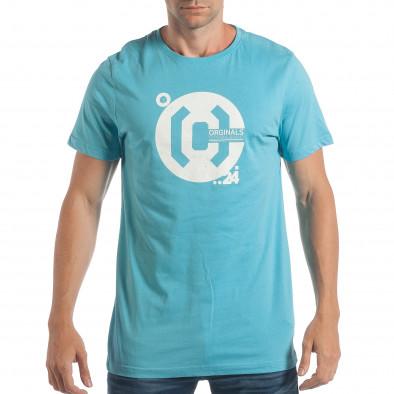 Tricou bărbați CROPP albastru lp180717-180 2