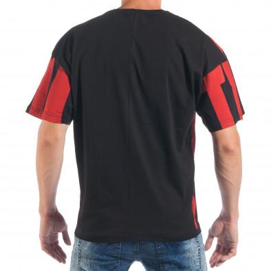 Tricou pentru bărbați în negru și roșu tsf250518-5 3