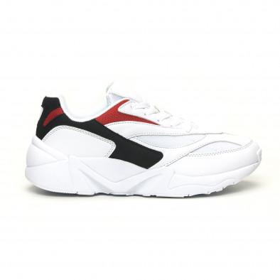 Adidași albi combinați pentru bărbați it051219-3 2