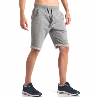 Pantaloni scurți bărbați New Men gri it260416-28 4