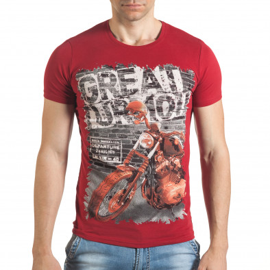 Tricou bărbați Just Relax roșu il140416-52 2