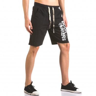 Pantaloni scurți bărbați Me & You negri ca050416-41 4