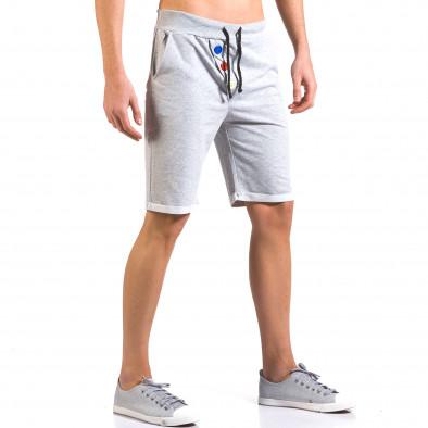 Pantaloni scurți bărbați Vestiti Delle Nuvole gri it160316-26 4