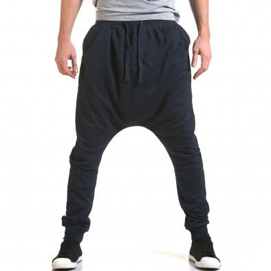 Pantaloni baggy bărbați Dress&GO albaștri it090216-33 2
