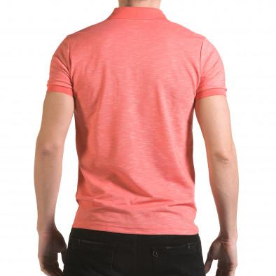 Tricou cu guler bărbați Franklin roz il170216-39 3