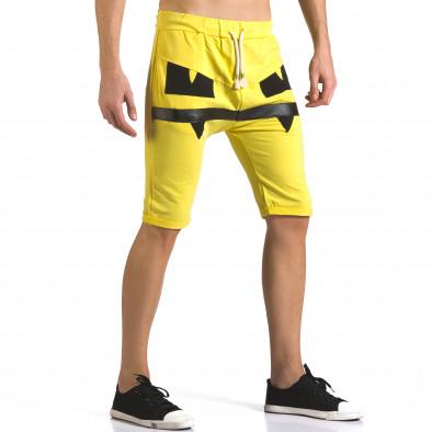 Pantaloni scurți bărbați ChRoy galbeni it110316-75 4