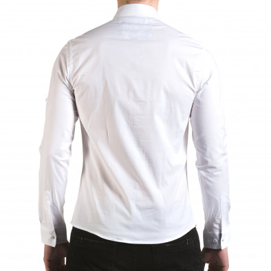 Cămașă cu mânecă lungă bărbați Buqra albă il170216-105 3