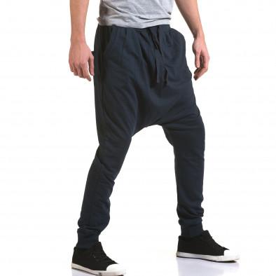 Pantaloni baggy bărbați Dress&GO albaștri it090216-33 4