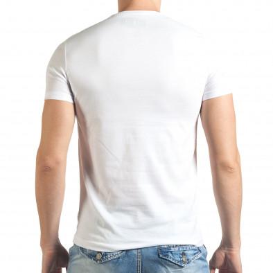 Tricou bărbați Just Relax alb il140416-40 3