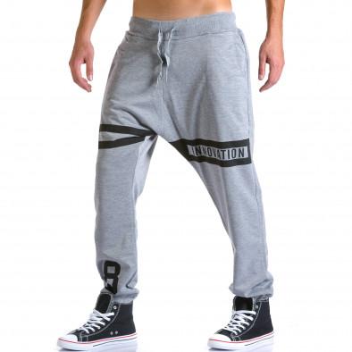 Pantaloni baggy bărbați Eadae Wear gri ca260815-29 4