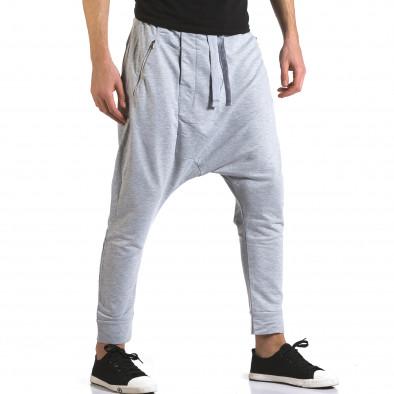 Pantaloni baggy bărbați Dress&GO gri it110316-3 4