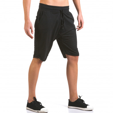 Pantaloni scurți bărbați Dress&GO negri it160316-24 4