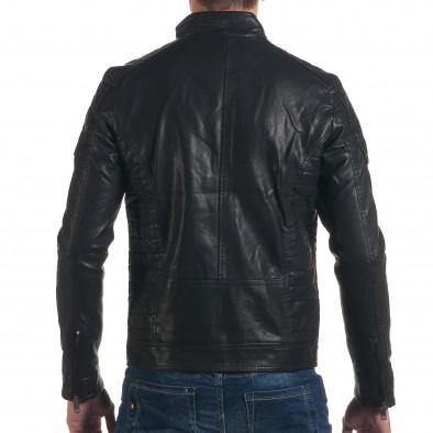 Geacă din piele ecologica bărbați Justboy neagră it191016-87 3