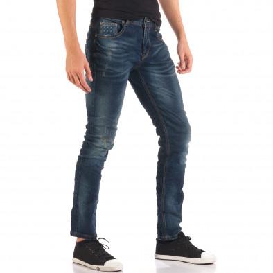 Blugi bărbați Flex Style albaștri it150816-34 4