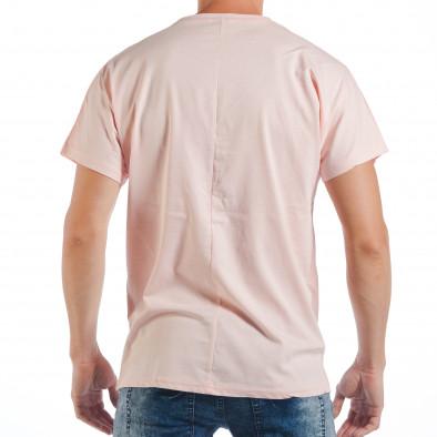 Tricou roz pentru bărbați cu imprimeu papagal tsf250518-7 3