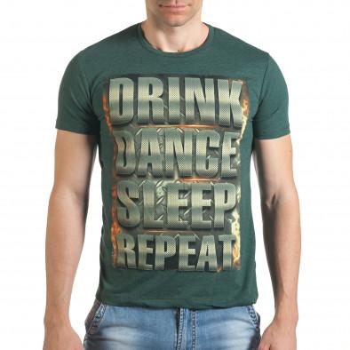 Tricou bărbați Just Relax verde il140416-46 2