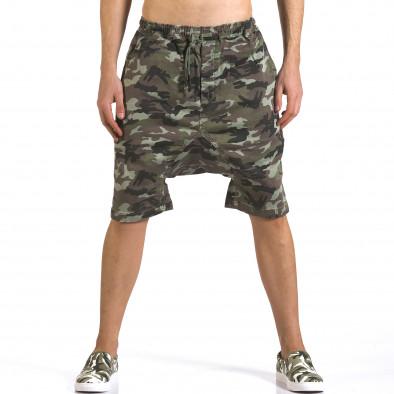 Pantaloni scurți bărbați Iabes Jeans camuflaj it110316-73 2