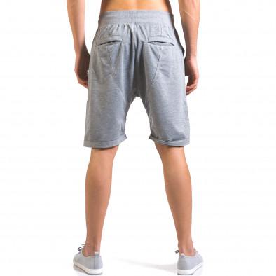 Pantaloni scurți bărbați Dress&GO gri it160316-25 3