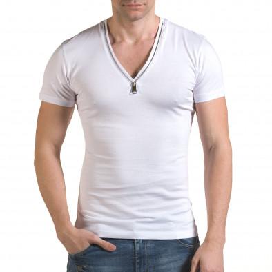 Tricou bărbați SAW alb il170216-65 2