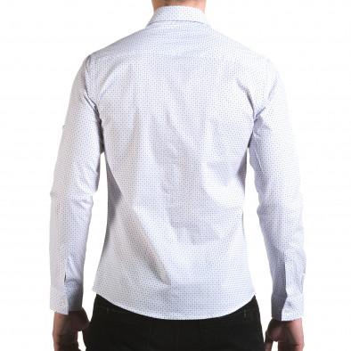 Cămașă cu mânecă lungă bărbați Buqra albă il170216-117 3