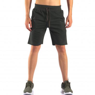 Pantaloni scurți bărbați Social Network verzi it160616-6 2