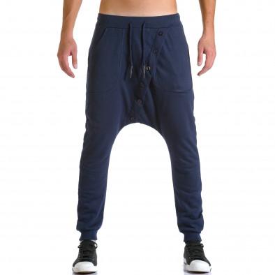 Pantaloni baggy bărbați Devil Slayer albaștri ca260815-24 2