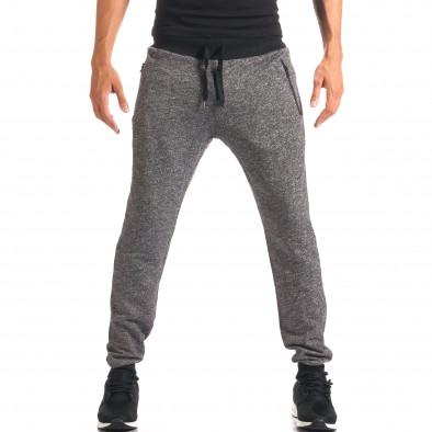 Pantaloni bărbați New Mentality gri it160816-27 2