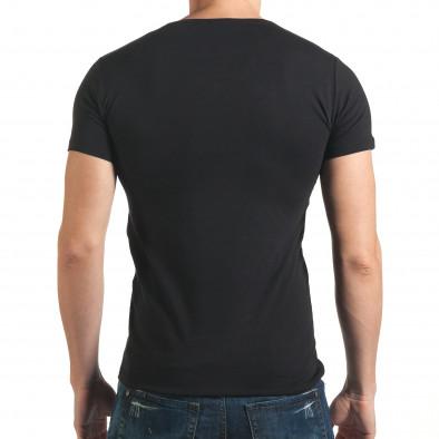 Tricou bărbați Berto Lucci negru il140416-8 3