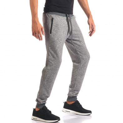 Pantaloni sport bărbați New Mentality gri it160816-26 4