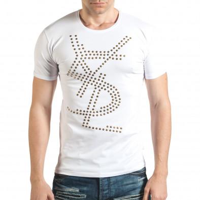 Tricou bărbați Lagos alb il140416-67 2