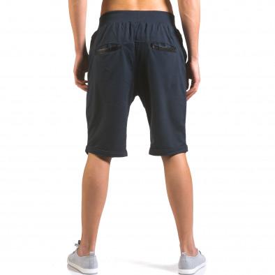 Pantaloni scurți bărbați Dress&GO albaștri it160316-20 3