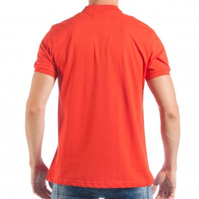 Tricou cu guler roșu basic pentru bărbați  tsf250518-33 3