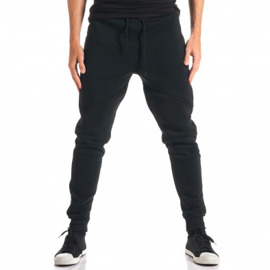 Pantaloni baggy bărbați Top Star negri ca280916-11 2