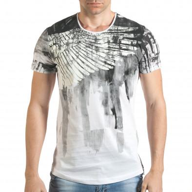 Tricou bărbați Eksi alb tsf140416-4 2