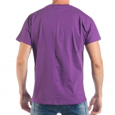 Tricou violet pentru bărbați cu imprimeu papagal tsf250518-9 3