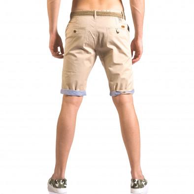 Pantaloni scurți bărbați Baci & Dolce bej ca050416-57 3