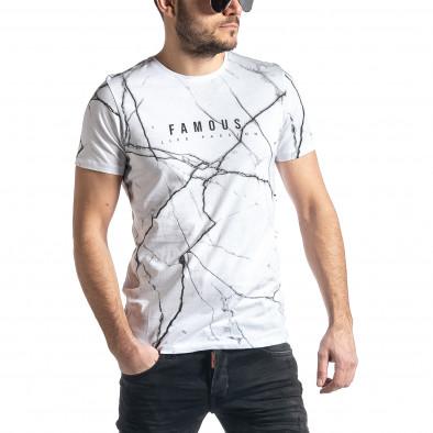 Tricou bărbați Lagos alb tr010221-5 2